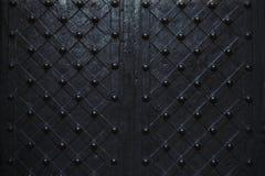 Sluit omhoog ijzerdeur met ornament royalty-vrije stock afbeelding
