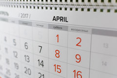Sluit omhoog kalender met concept het tellen royalty-vrije stock foto's