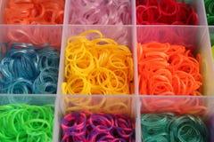 Sluit omhoog kleurrijk van weefgetouwbanden Royalty-vrije Stock Fotografie