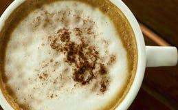 Sluit omhoog kop van espresso Stock Afbeelding