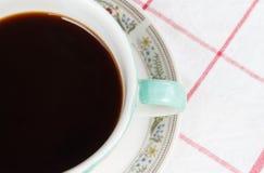 Sluit omhoog kop van koffie Royalty-vrije Stock Afbeeldingen