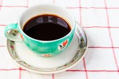 Sluit omhoog kop van koffie Stock Afbeelding