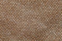 Sluit omhoog macrocanvas katoenen textuur Stock Fotografie