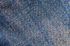Sluit omhoog macrojeans katoenen textuur Royalty-vrije Stock Fotografie