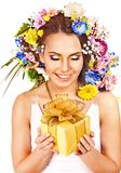 Sluit omhoog maken omhoog met bloem. Royalty-vrije Stock Afbeelding