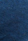 Sluit omhoog marine/blauwe stoffentextuur Achtergrond Royalty-vrije Stock Foto's