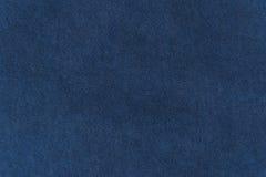 Sluit omhoog marine/blauwe stoffentextuur Achtergrond Royalty-vrije Stock Fotografie
