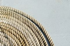 Sluit omhoog Marine Rope Coil Royalty-vrije Stock Fotografie