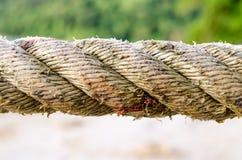Sluit omhoog Marine Rope Coil Royalty-vrije Stock Foto