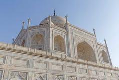 Sluit omhoog mening over Taj Mahal in Agra Royalty-vrije Stock Afbeelding