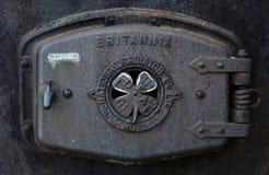 Sluit omhoog mening van antieke radiator stock foto