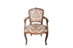 Sluit omhoog mening van de Antieke oude elleboog-stoel Royalty-vrije Stock Foto