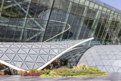 Sluit omhoog mening van de buitenkant van de luchthaven in Baku, Azerbeidzjan Stock Afbeelding