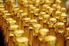 Sluit omhoog mening van de fles van Champagne Stock Foto's