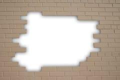 Sluit omhoog mening van de geschilderde bakstenen muur Stock Foto's