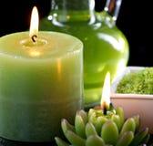 Sluit omhoog mening van het aromatherapy nog-leven Royalty-vrije Stock Foto's