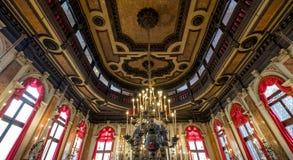 Sluit omhoog mening van het binnenland van de historische Spaanse Synagoge Schola Spagniola, Cannaregio, Venetië royalty-vrije stock afbeeldingen