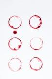 Sluit omhoog mening van lijnen van rode cirkels worden gemaakt die Royalty-vrije Stock Fotografie