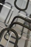 Sluit omhoog mening van raclette verwarmingssysteem Stock Afbeelding