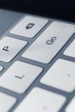 Sluit omhoog mening van sleutels van laptop toetsenbord Stock Afbeelding