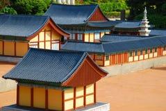 Sluit omhoog mening van tempelarchitectuur royalty-vrije stock afbeelding