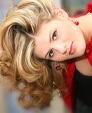 Sluit omhoog Mooie Jonge Vrouw royalty-vrije stock foto's