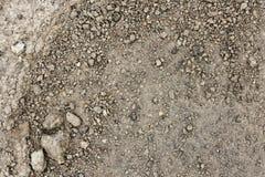 Sluit omhoog natte steenachtige grond in de lente Royalty-vrije Stock Foto's