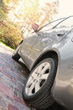 Sluit omhoog ontsproten van een auto Royalty-vrije Stock Afbeelding