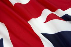 Sluit omhoog ontsproten van vlag van Engeland Stock Foto