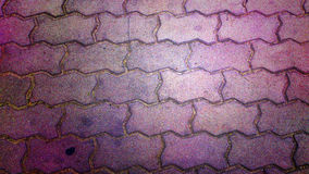 Sluit omhoog op baksteenstraatstenen Royalty-vrije Stock Foto's