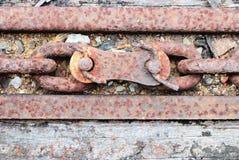 Sluit omhoog op een verbinding van oude ketting Royalty-vrije Stock Fotografie