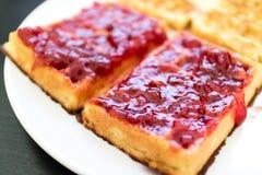 Sluit omhoog op het heerlijke dessert van het fruitgebakje Stock Fotografie