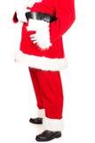 Sluit omhoog op Santa Claus-silhouet Royalty-vrije Stock Afbeeldingen