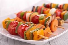 Plantaardige kebab Stock Foto's