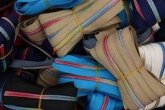 Sluit omhoog oppervlakte van mooie textielstoffen in hoge resolutie royalty-vrije stock afbeelding