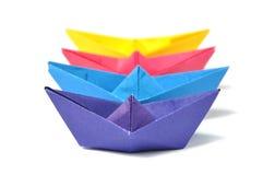 Sluit omhoog origamischip royalty-vrije stock afbeelding
