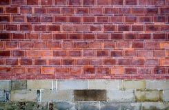 Sluit omhoog oude bakstenen muur Stock Foto