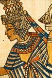 Sluit omhoog oude Egyptische rol Stock Foto's