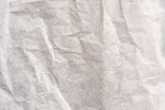 Sluit omhoog oude verfrommelde Witboektextuur en achtergrond stock afbeelding