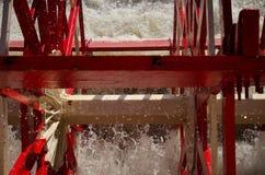 Sluit omhoog peddelwiel van de Natchez-Stoomboot Royalty-vrije Stock Afbeeldingen