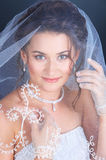 Sluit omhoog portret van de bruid Royalty-vrije Stock Foto