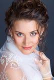 Sluit omhoog portret van de bruid Royalty-vrije Stock Fotografie