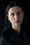Portret van de donkerbruine vrouw van het schoonheidsgezicht Royalty-vrije Stock Afbeelding