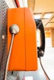 Sluit omhoog publieke telefooncel stock afbeeldingen