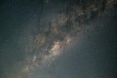 Sluit omhoog reisbeeld van de Melkwegmelkweg in realistische kleuren royalty-vrije stock fotografie