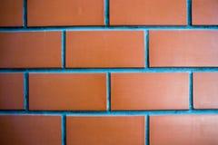 Sluit omhoog Rode bakstenen muur voor achtergrond Royalty-vrije Stock Foto's