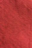 Sluit omhoog rode/roze stoffentextuur Achtergrond Stock Foto's