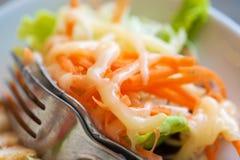 Sluit omhoog salade in studioschot Royalty-vrije Stock Afbeelding