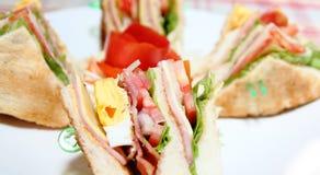 Sluit omhoog sandwich Royalty-vrije Stock Foto