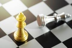 Sluit omhoog schaakstukken Royalty-vrije Stock Afbeelding